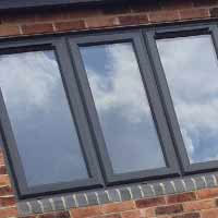 Grey Casement Upvc windows