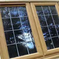 Light oak casement window