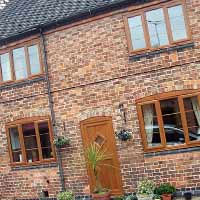 golden oak Upvc windows