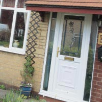 white upvc doors